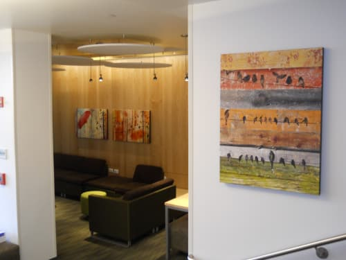 Paintings by Irena Orlov seen at Stanford University, Student Housing, Stanford - Campus Stanford University
