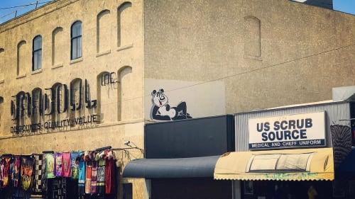 Street Murals by Sébastien Walker seen at Dahdoul Textiles Inc, Los Angeles - Panda Mural