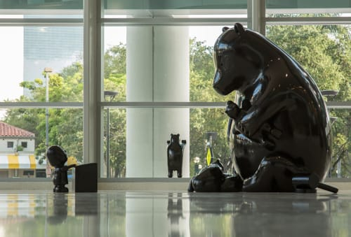Sculptures by Tom Otterness seen at Miami Childrens Courthouse, Miami, FL, Miami - Familia De Los Osos