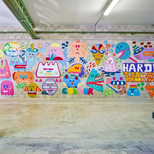 Murals by Zosen seen at Sancal Diseño, Yecla - Mural
