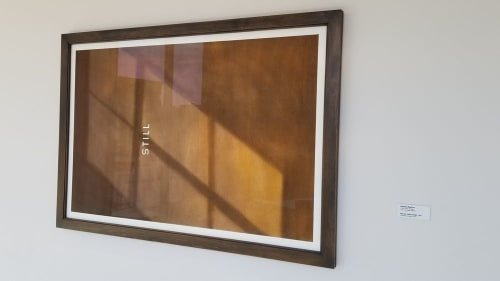 Paintings by Edward Ruscha seen at The ART, a Hotel, Denver - Still (For Clyford Still), 1986