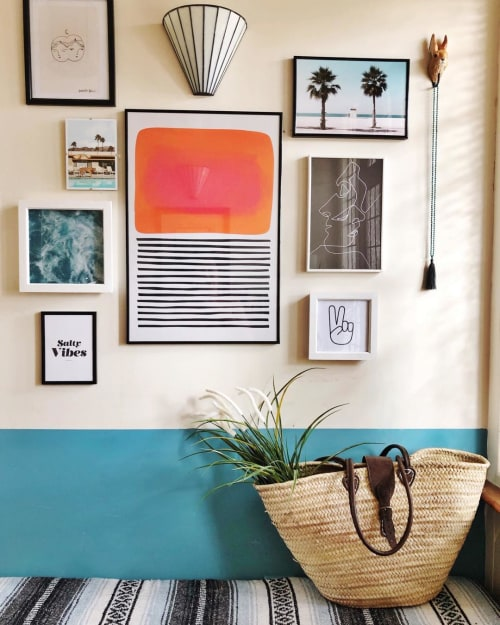 Wall Hangings by Paul Fuentes Design seen at Private Residence, Torquay - Pool Party Tiger Art Print