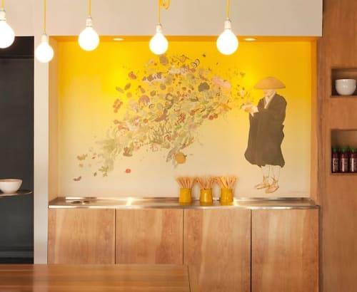 Murals by Kozyndan seen at Yellow Fever, Torrance - Countertop