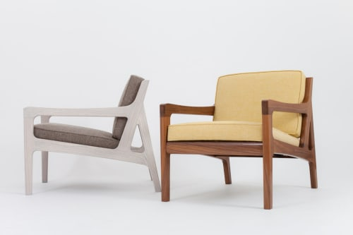 Chairs by Asa Pingree at Independent Lodging Congress, in the William Vale NYC, Brooklyn - Pilar Lounge Chair
