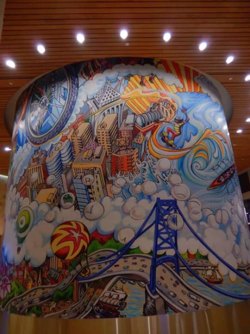 Murals by Paul Santoleri seen at CHOP Buerger Center for Advanced Pediatric Care - Raymond G. Perelman Campus, Philadelphia - Uplift