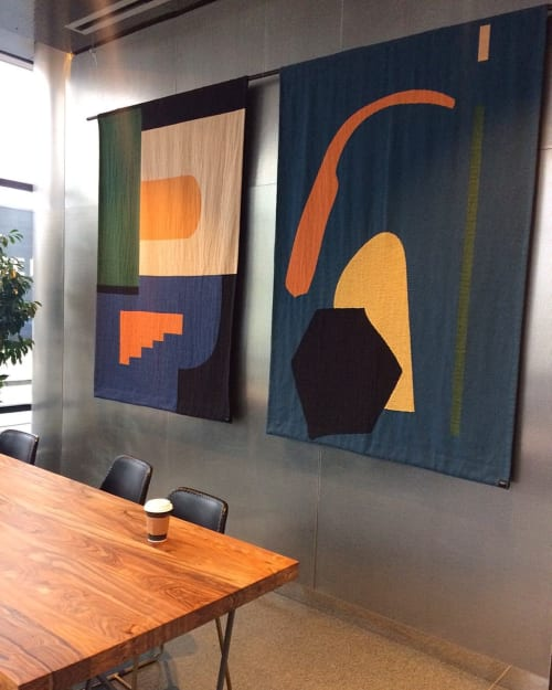 Wall Hangings by Studio Herron by Dee Clements seen at Stumptown Coffee Roasters, Chicago, IL, Chicago - Woven Tapestries