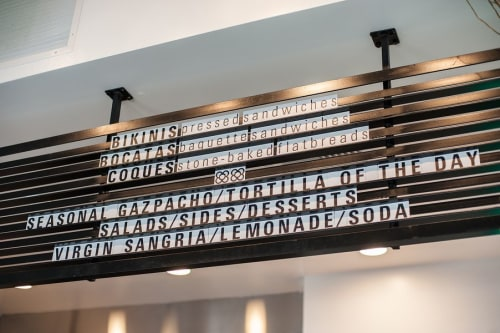 Interior Design by MASS Architecture & Design seen at BCN, West Hollywood - Custom Menu Panel