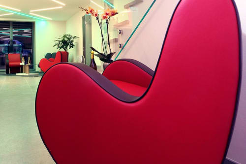 Chairs by Adrenalina seen at Bramante Hotel & Spa, Urbania - Ata Baby and Jelly
