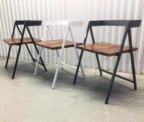 Chairs by YJ Interiors seen at Ballissimo Loukoumades Bar, Toronto - Walker Chairs and X-Frame Tables
