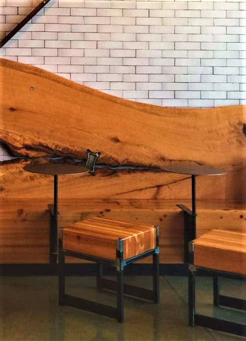Chairs by TRUE Handcrafted seen at Allegro Coffee Roasters - Gilman, Berkeley - Custom Stool