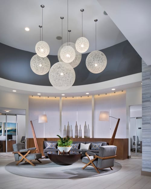 Lamps by Cerno seen at APEX Apartments, Laguna Niguel - Silva Giant Floor Lamp