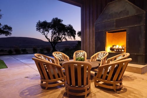 Chairs by John Hutton seen at Ram's Gate Winery, Sonoma - Classic Tub Chair