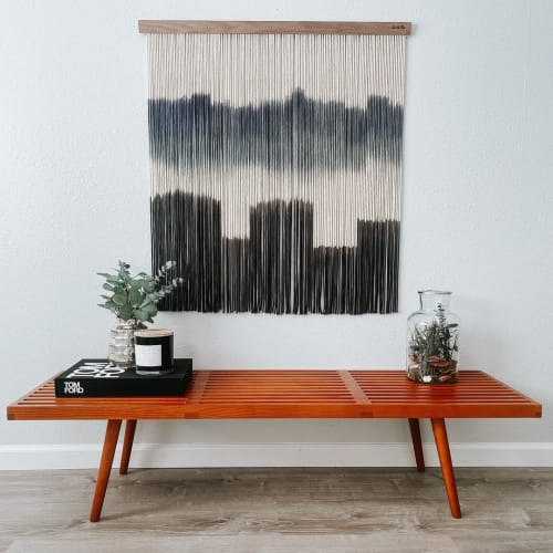 Macrame Wall Hanging by Love & Fiber seen at Creator's Studio, San Diego - Extra Large Black and Blue Macrame Wall Hanging