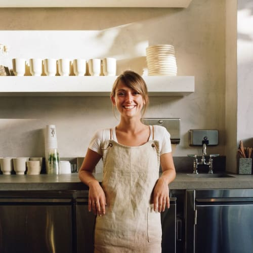 Aprons by Matt Dick - Small Trade Company seen at Samovar Tea Bar, San Francisco - Bespoke Canvas Aprons