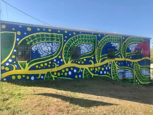"Street Murals by Charmaine Minniefield seen at Hyatt Park, Columbia - ""Grow Together"" mural"