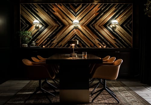 Wall Hangings by Aleksandra Zee at The Kimpton Buchanan, San Francisco - Wooden Wall Artwork