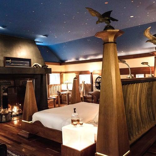 Beds & Accessories by David Boynton Cabinet Maker LLC seen at The Pitcher Inn, Warren - Pitcher Inn Bed