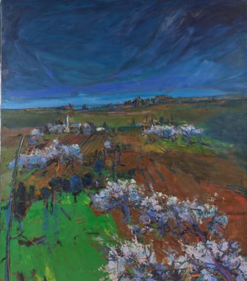 Paintings by Henrietta Berk seen at Mills College Art Museum, Oakland - California Vineyard