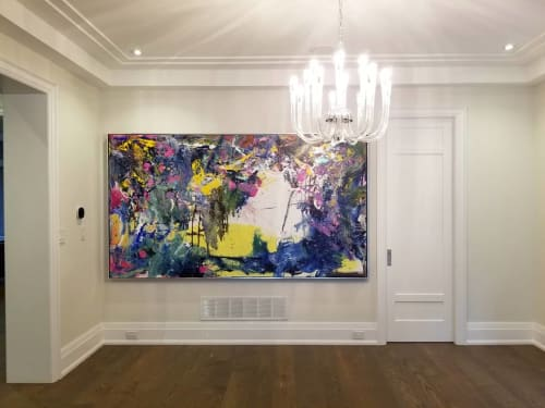 Paintings by Peter Triantos seen at Private Residence, Toronto - Napa Valley #1