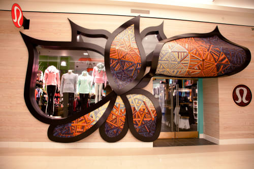 Public Mosaics by Mercury Mosaics at Lululemon - Mall Of America, Bloomington - Custom Mosaic Tiles