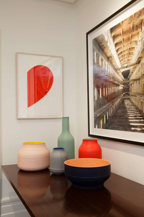 Vases & Vessels by Bitossi Ceramiche seen at Williamson Residence, Williamson - Vaso Barrels, Bottle, Tub and Bolo Bowl