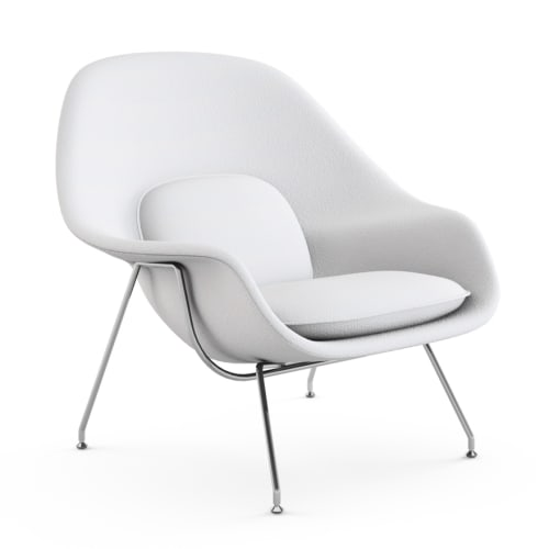 Chairs by Eero Saarinen seen at International Interior Design Association, Chicago - Womb Chair
