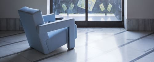 Chairs by Gerrit Thomas Rietveld seen at Wired Magazine, San Francisco - Utrecht Armchair