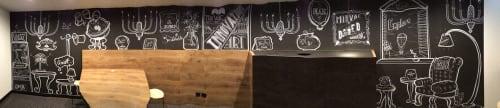 Murals by Sam Shennan seen at Mirvac, Sydney - Mirvac Mural