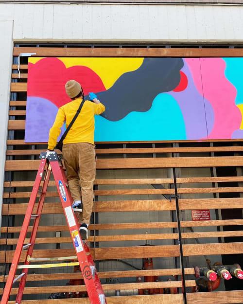 Murals by Darin seen at Maya Apartments, Oakland - Maya