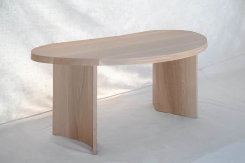 Tables by Michael O'Connell Furniture seen at Atelier de Troupe, Los Angeles - Chene Desk