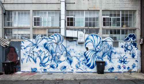 Street Murals by Kristine Brandt seen at Gordon Street, SoMa, San Francisco - Zen