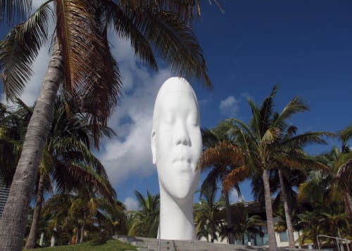 Sculptures by Jaume Plensa seen at Pérez Art Museum Miami, Miami - Looking Into My Dreams, Awilda, 2012