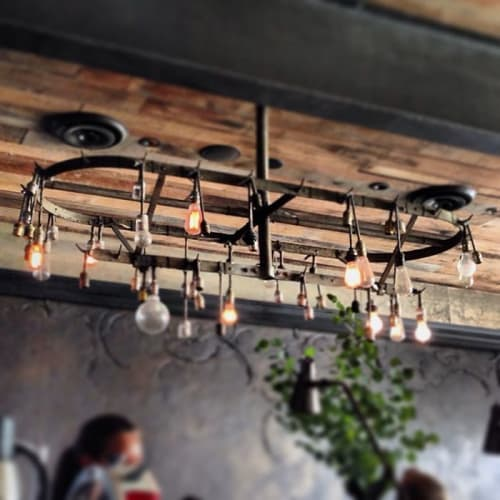 Chandeliers by Studio Mai seen at Gjelina, Los Angeles - Custom Chandelier
