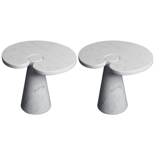 Tables by Angelo Mangiarotti seen at Ten Thousand, Los Angeles - Marbled-table