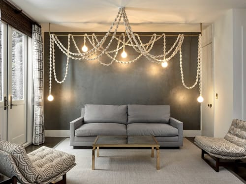 Chandeliers by Windy Chien seen at Private Residence, San Francisco - Helix Chandelier - White