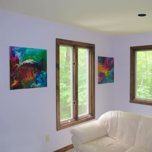 Paintings by John Perry Art seen at Private Residence, New Haven - Abstract Arts
