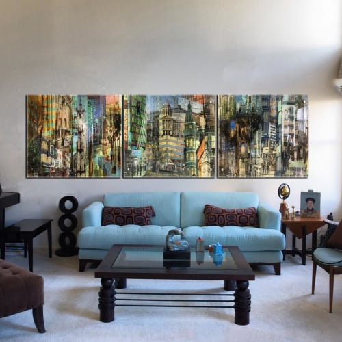 Wall Hangings by Counterpoint Studio, LLC seen at Counterpoint Studio LLC, Oakland - Image Glass Print