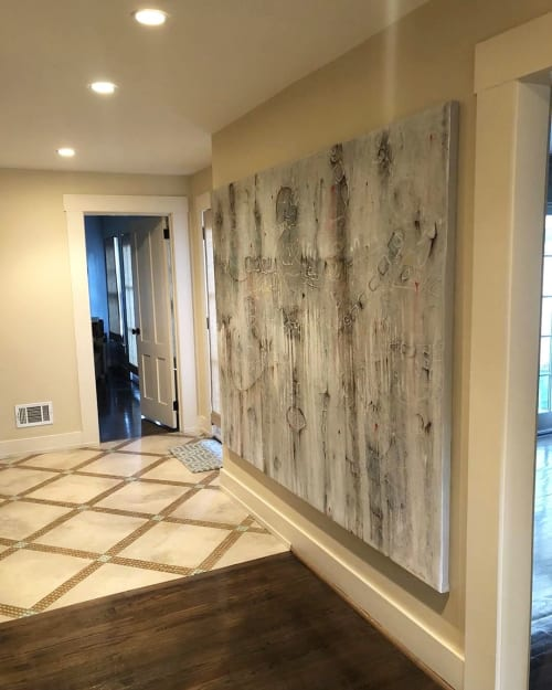 Paintings by Bruce Rubenstein seen at Private Residence, Atlanta - TOTEM