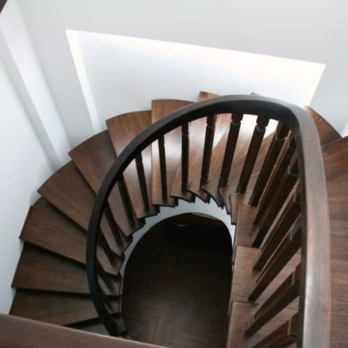 Furniture by Bogdan Petru seen at Private Residence, Rădăuți - Spiral Staircase