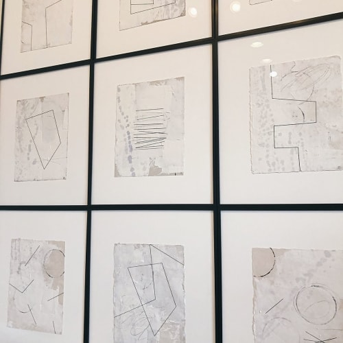 Wall Hangings by JANE TIMBERLAKE COOPER seen at MAISON, Mountain Brook - Drawing with Thread