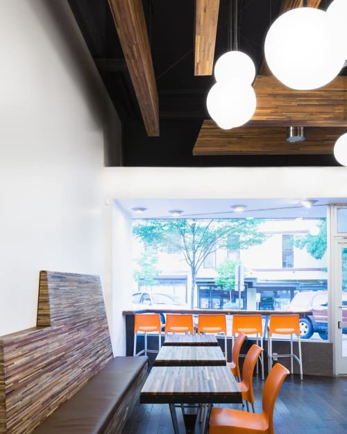 Tables by Wane + Flitch seen at Original House of Donuts Tacoma, Tacoma - Live Edge Tables