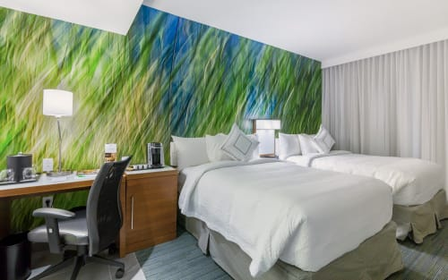 Photography by Rica Belna seen at Courtyard by Marriott New York Downtown Manhattan/World Trade Center Area, New York - Grasses (Guest Rooms) - RicaBelna_12A_7964