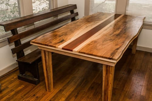 Tables by Joint Venture Woodworks seen at Private Residence - Three Piece Suit