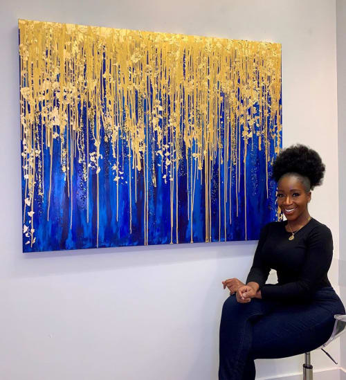 Paintings by Dunnie The Artist seen at Private Residence, Washington - Divine Blessings