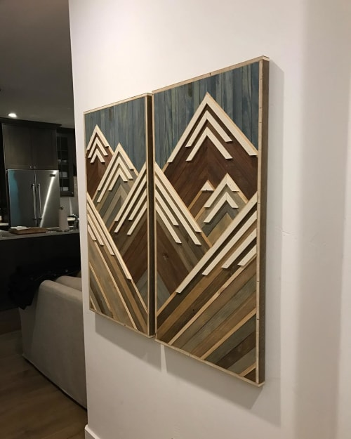 Wall Hangings by Sweet Home Wiscago at Private Residence, Vail - Mountains