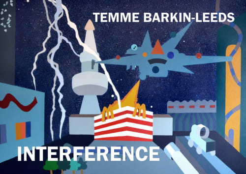 "Paintings by Temme Barkin-Leeds Art at Callanwolde Fine Arts Center, Atlanta - Exhibition titled ""Interference"""