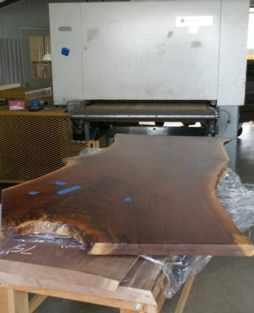 Tables by fab&made at 135 Madison Ave, New York - Live Edge Dining Table American/Black Walnut