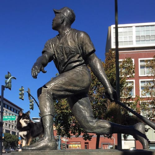 Public Sculptures by William Behrends at AT&T Park, San Francisco - Willie McCovey Statue