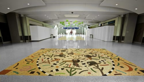 Public Mosaics by Suzanne Adan seen at Sacramento International Airport, CA, Sacramento - Flying Colors