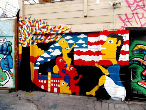 Street Murals by Darry Perier seen at Lilac Street, Mission District, San Fransisco, San Francisco - Lecture